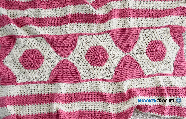 Subtle Stars Crochet Lap Blanket