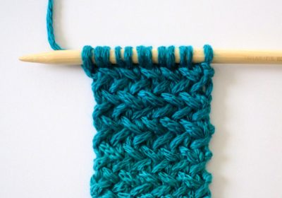 Knit Herringbone Stitch