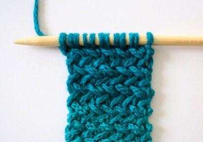 Knit Herringbone Stitch