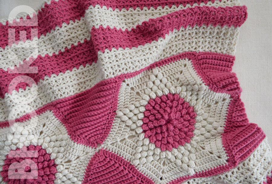 subtle star crochet lap blanket