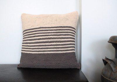 Classic Garter Stitch Knit Pillow