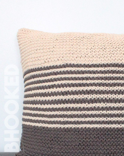 Garter Stitch Knit Pillow
