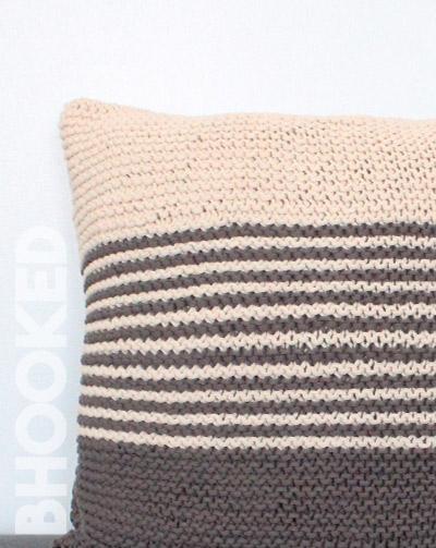 Garter Stitch Knit Pillow