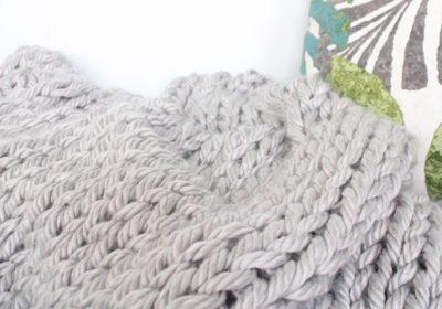 Giant Knit Blanket for Beginners