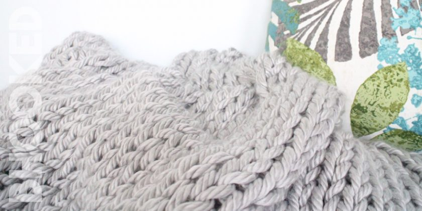 Giant Knit Blanket for Beginners