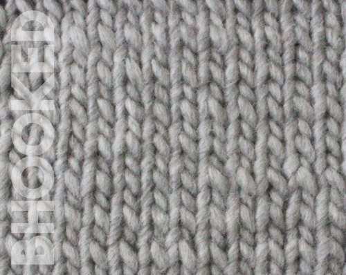 knit stockinette stitch