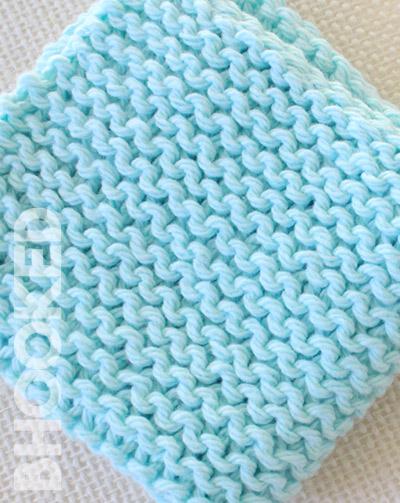 beginner knit wash cloth