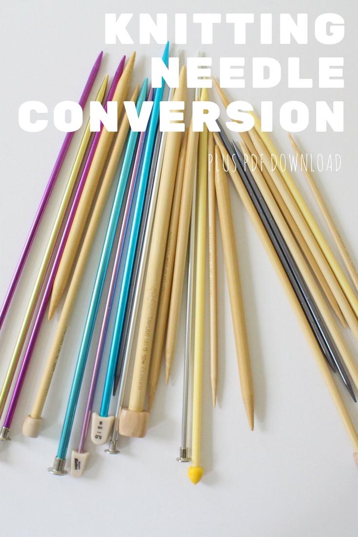 knitting needle conversion