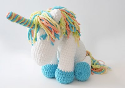 """Cuddles"" the Crochet Unicorn"