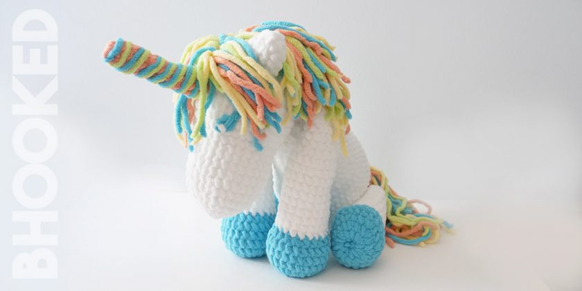 """""""Cuddles"""" the Crochet Unicorn"""
