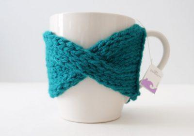 Easy Cable Knit Mug Cozy