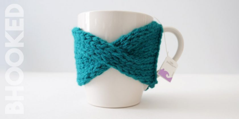 Easy Cable Knit Mug Cozy
