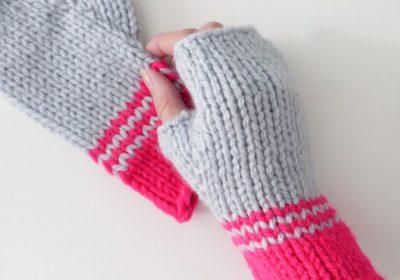 Easy Knit Fingerless Gloves