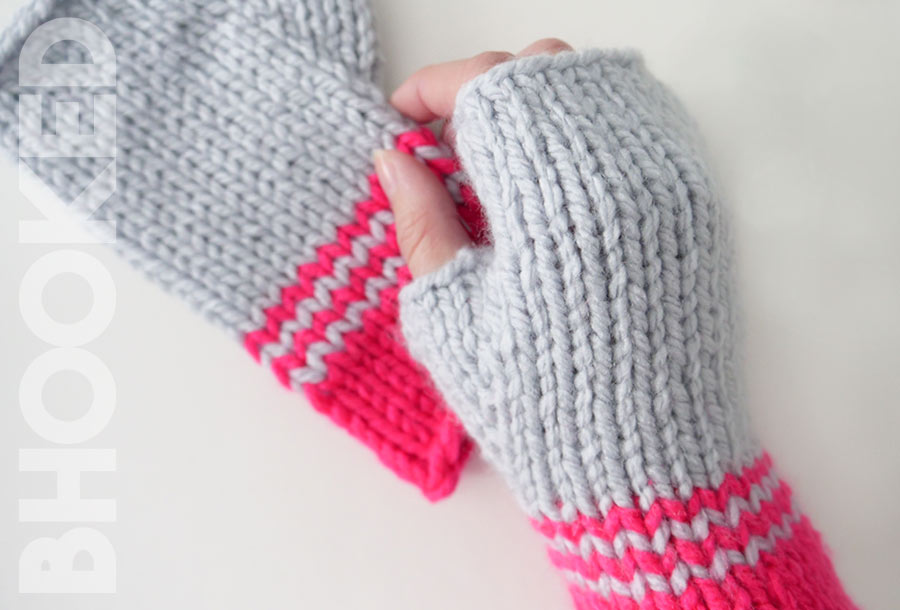 Knit Fingless Gloves