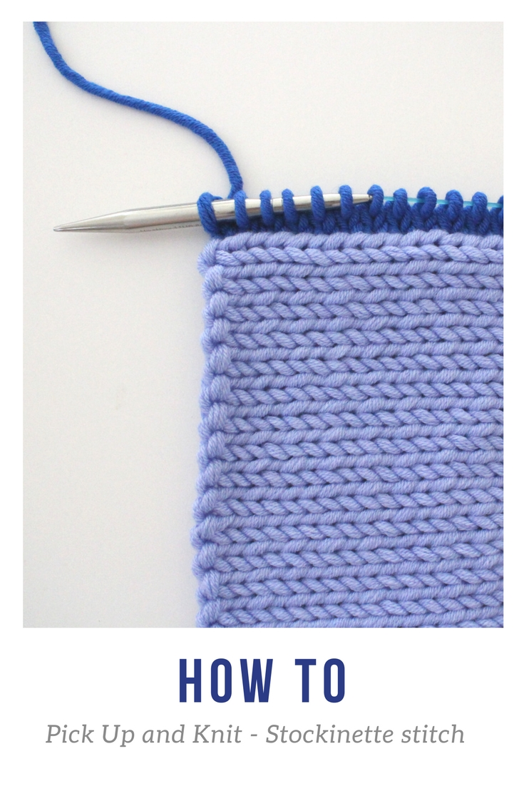 pick up and knit stockinette
