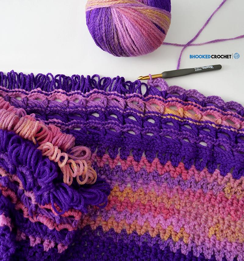 crochet wrap broomstick lace
