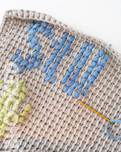 Tunisian Crochet Pillow