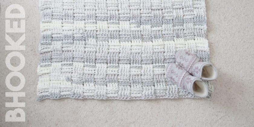 Basket Weave Crochet Rug