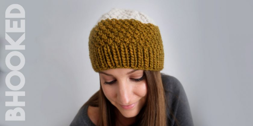 Double Moss Stitch Knit Hat