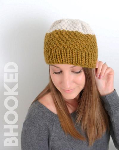 Double Moss Stitch Knit Hat
