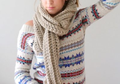 How to Crochet a Scarf for the Complete Beginner
