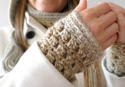 Colorscape Crochet Wrist Warmers