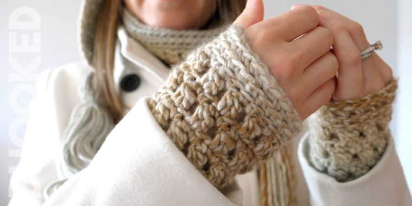 Colorscape Crochet Wrist Warmers