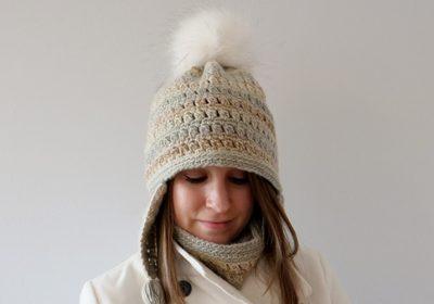 Colorscape Earflap Crochet Hat