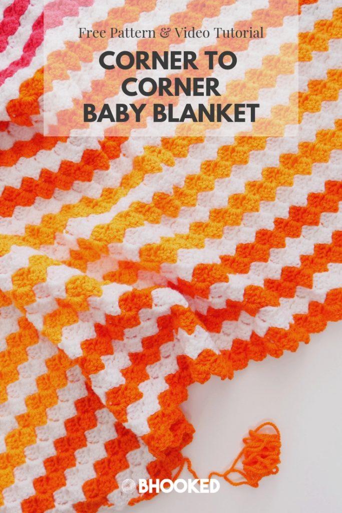 Baby Brights Corner to Corner (C2C) Baby Blanket | Free Crochet Pattern from B.Hooked!