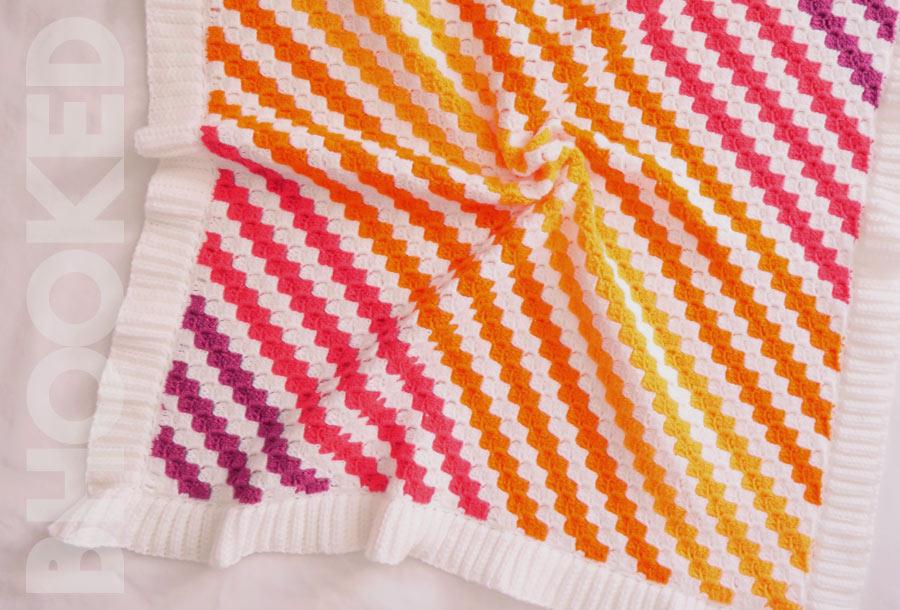Corner 2 corner Baby Blanket
