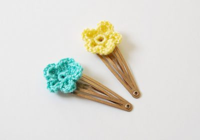 Flower Crochet Hair Clips