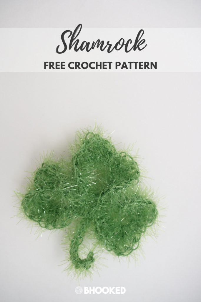 Sparkling Crochet Shamrock | Free Crochet Pattern from B.Hooked!