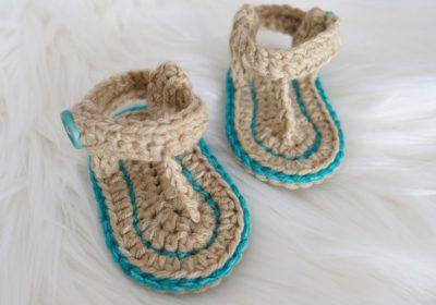 Easy Crochet Baby Sandals