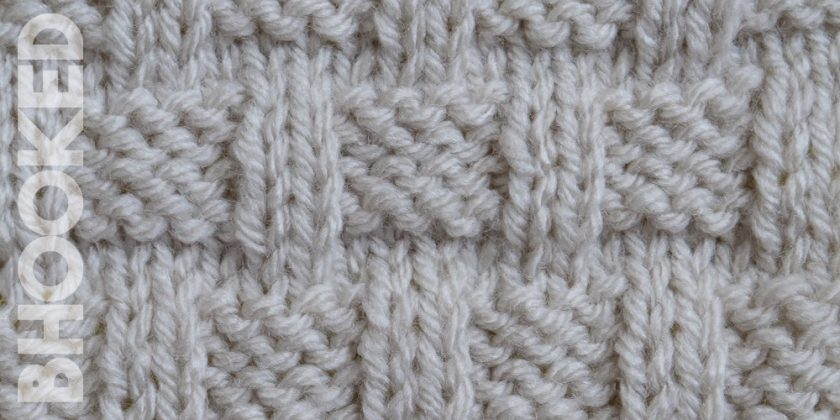 Knit Basket Weave Stitch