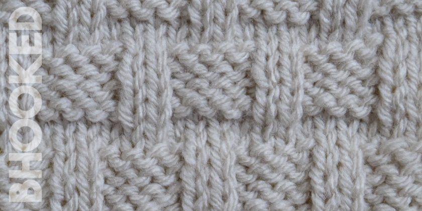 Knit Basket Weave Stitch