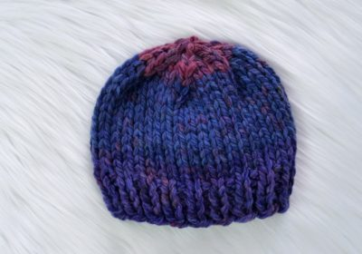 Really Easy Knit Baby Hat