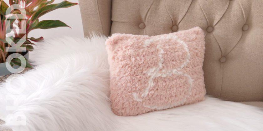 Faux Fur Monogram Crochet Pillow