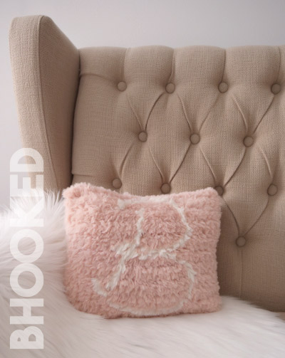 Monogram Crochet Pillow