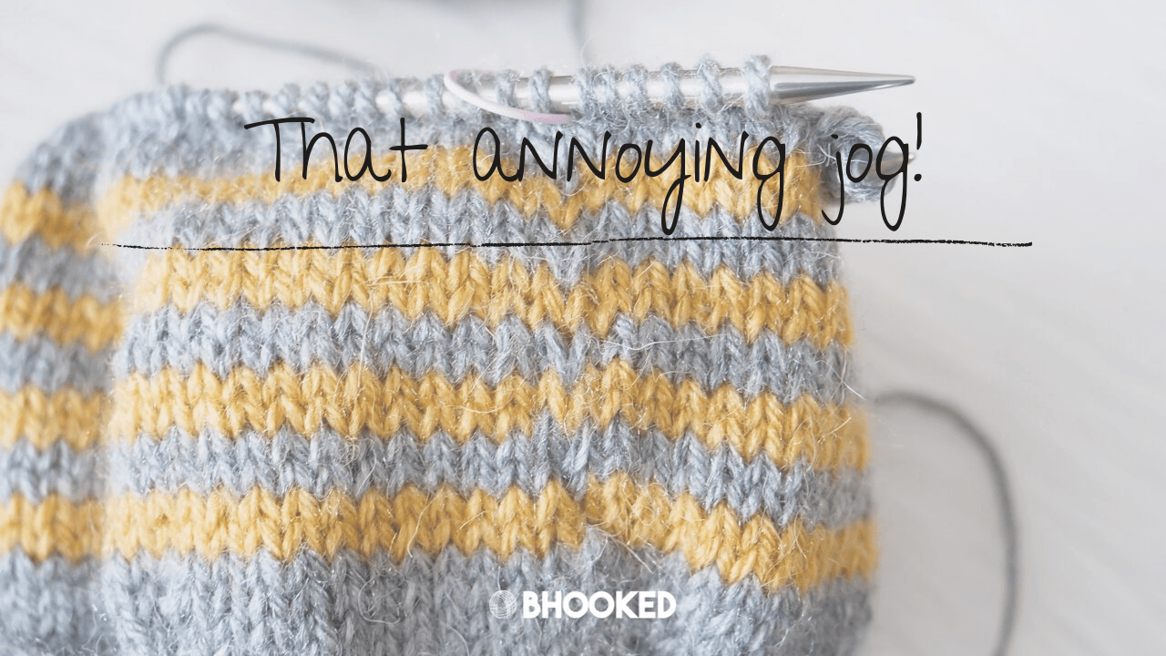 Knitting Stripes Color Jog and a Quick Fix | B.Hooked TV