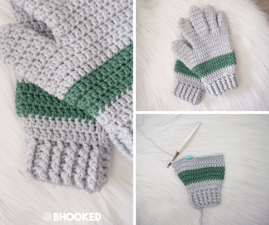 Men's Crochet Gloves | Free Crochet Pattern