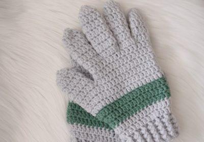 Basic Men's Crochet Gloves
