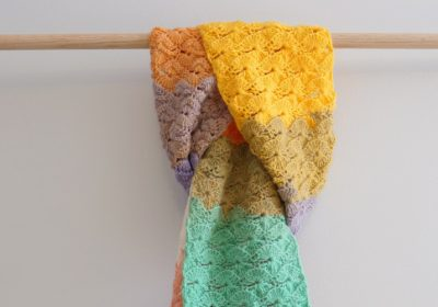 Catherine Wheel Stitch Crochet Scarf