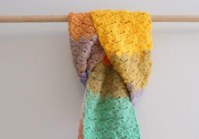 Catherine Wheel Stitch Crochet Scarf
