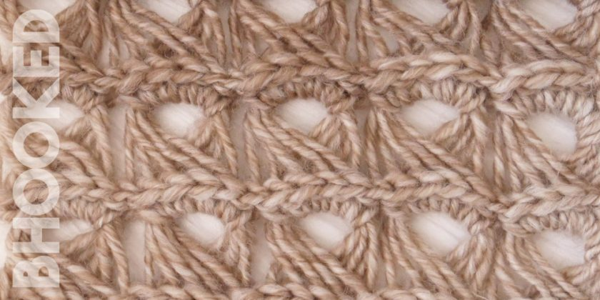 Broomstick Lace Crochet Stitch