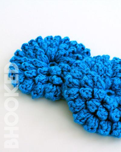 Popcorn Stitch Crochet Flower