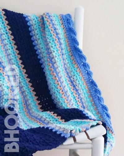 Baby Waves Crochet Baby Blanket Pattern