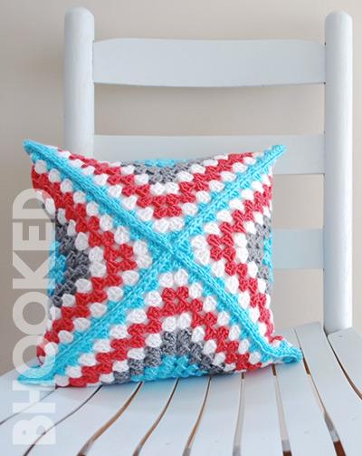 Retro Granny Square Pillow