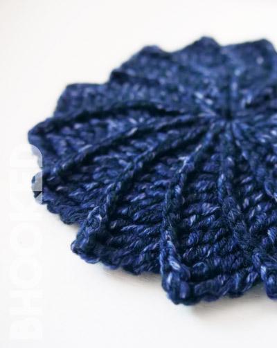 spiral crochet coasters