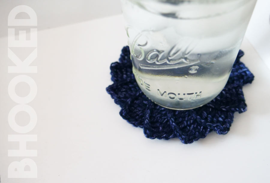 spiral crochet coasters