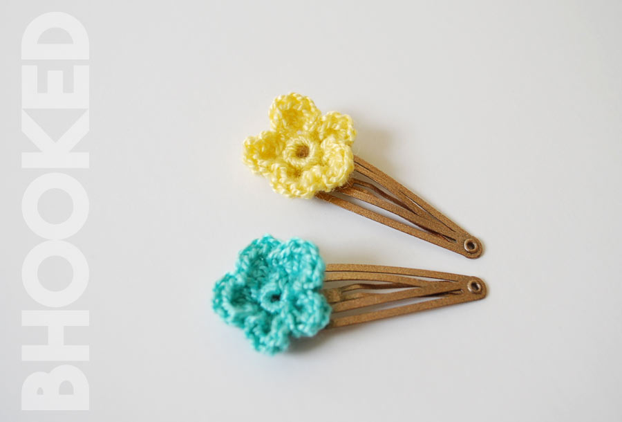 Flower Crochet Hair Clips